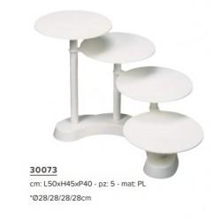 Prato Plástico 4 pcs - 30073