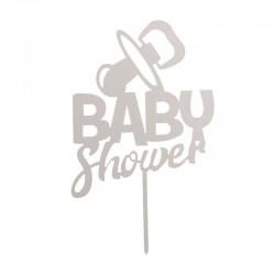 Topper Baby Shower Prata
